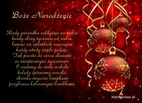 eKartki Boże Narodzenie Uroczysta chwila,