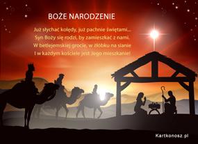 eKartki Boże Narodzenie W betlejemskiej grocie,