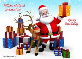 eKartki Boże Narodzenie Wspaniałych prezentów,