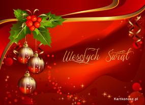 eKartki Boże Narodzenie Wykwintna e-Kartka,