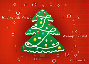 eKartki Boże Narodzenie Zielona choinka,