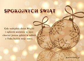eKartki Boże Narodzenie Życzenia z oddali,