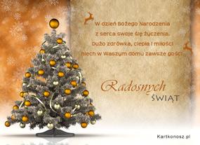 eKartki Boże Narodzenie Życzenia z serca,