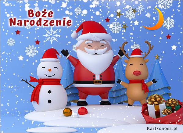 Śnieżne święta - Świąteczne pozdrowienia