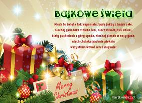 e Kartki  z tagiem: Darmowe kartki bożonarodzeniowe Bajkowe święta,