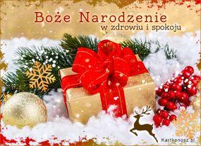 Boże Narodzenie w zdrowiu i spokoju