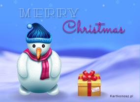 eKartki Boże Narodzenie e-Kartka z bałwankiem,