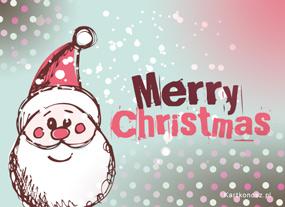 eKartki Boże Narodzenie Rysowany Mikołaj,