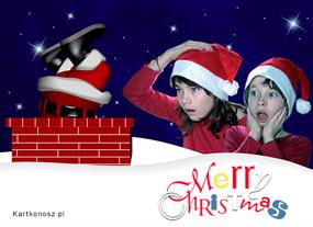 eKartki Boże Narodzenie Sztuczka Mikołaja,