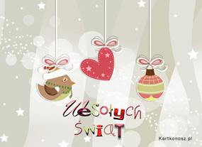 eKartki Boże Narodzenie Zawieszki świąteczne,