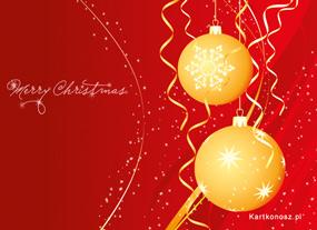 eKartki Boże Narodzenie Bożonarodzeniowe bańki,