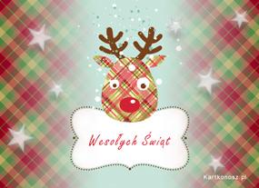eKartki Boże Narodzenie Kartka z reniferem,