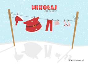 eKartki Boże Narodzenie Mikołaj już tu jest,