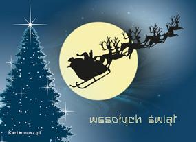 eKartki Boże Narodzenie Zaprzęg Mikołaja,