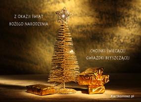 eKartki Boże Narodzenie Choinka świecąca,