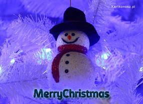 eKartki Boże Narodzenie Kartka z bałwankiem,