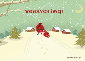 eKartki Boże Narodzenie Odwiedziny Mikołaja,