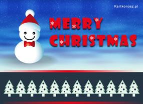 eKartki Boże Narodzenie Życzenia od bałwanka,