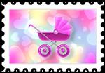 Różowy wózek