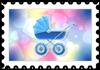 Niebieski wózek